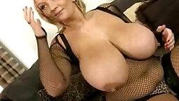 Busty Blonde Slut Fucks Big Black Cocks