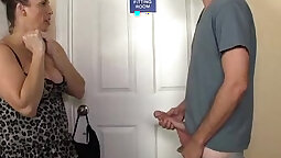 Busty stepmom pleasing twat with her mature friend