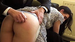 British slut cant avoid riding massive cock