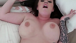 Busty chubby girlfriend in spring foreplay anal sex