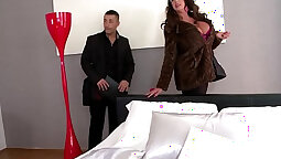 Busty brunette sucks and gets fucked up the ass