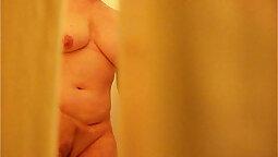 Spied in shower mom masturbating
