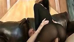 Asian Horny Girl In Pantyhose Bounces
