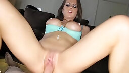 Blond Honey Getting A Ray In An Oral Session