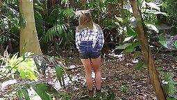 Biker girl Harvey Maya jumping on daddy dick like a cowgirl