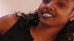 Ebony amateur oral filled