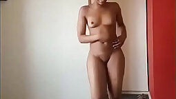 Autumn Flapper Show Naked Tanned Body And Nude Photo Shoot