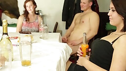 Crazy party with MILF MistyFaux and Fucked by a Personal Man
