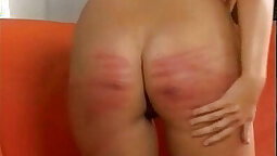 BDSM sub restrained and spanked