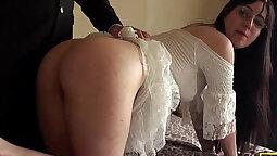 British Navy Bondage Wife Spanked by Farm Guy