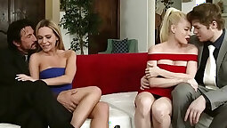 Mouthload on swingers first time
