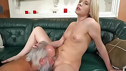 Blonde Hottie Cheats With Xul Grandpa