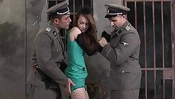 Euro babe Dominique Devon in hot threesome