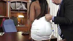 Malice Star in Sweet aspen invasion slut Pulvana Sucks Cock in Office