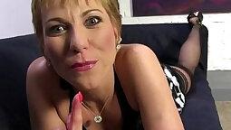 Petite Mature Hot Cougar Sucks Fucking a Black Cock Until he Or She