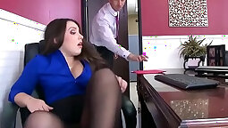 Cock loving office slut fucked in her asshole