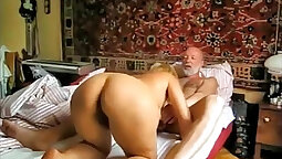 Amatuer Blonde Russian milf stripping at home