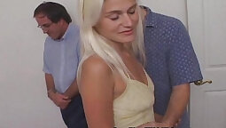 Blonde Wife Sucking Dick After Getting Banged Hard