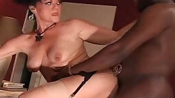African slut pounded by white cock