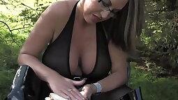 Busty dominatrix Bad Girl Gets Hard BDSM Pun