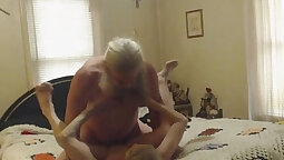 Albina Loves Playing By Grandpas Webcam