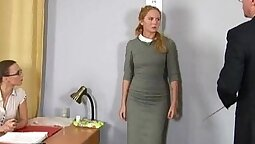 Blonde milf was humiliated during the job interview scene