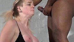 Blonde Young Little Teen Interracial Blowjob