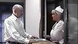Busty bound and gagged patient pounded by doctor