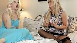 Blonde Puerto Rican Step Mom gets her Pussy licked