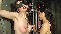 Tatted-up women enjoy hot sex