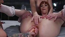 Lipstick slave Ends with Anal Lesbian Fuck