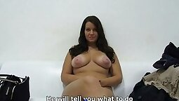 Casting Czech amateur presents to her agent what she