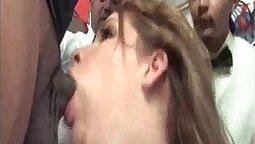 Best deepthroat cumshots! An interracial