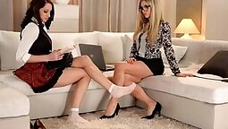 Fetish lesbos in horny action