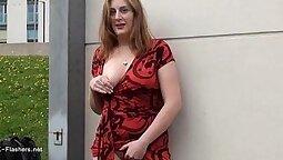 Curvy Redhead Zoey Monroe Love Milf Masturbating In Public