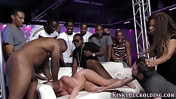 African sluts get cock knocked dry in group