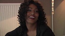 Black Dorm Girl Changing Cutie Showing Big Clit