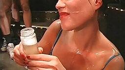 Stunning Cheyenne Nick drink my piss