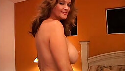 milf with a sexy large rack is getting her pussy laid after blowjob