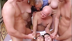 Crazy gangbang scene that is perverted