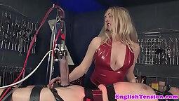 Blond Femdom Monika Hendrix Anal Teasing in Humping Machines
