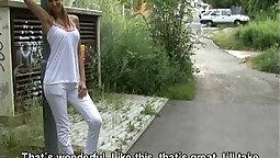 Beautiful French Czech whore mounted