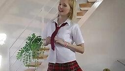Teen Nina Bridges making her assets nuns well caught beet this cam