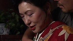 Mature Asian pussy painted