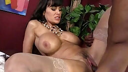 Black cock rides white wet pussy
