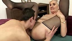 Naughty Hitchhiking Hot Blonde Mature...Granny Again