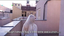 Blonde give unbelievable blowjob in POV