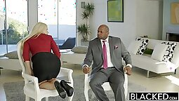 Blonde with big ass Anikka Albrite ends up with a double penetration
