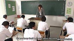Asian teacher she can go