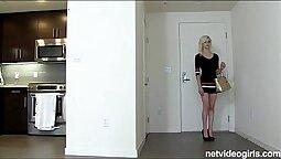 Amateur Thin Blonde Lets Her Legs Revenge